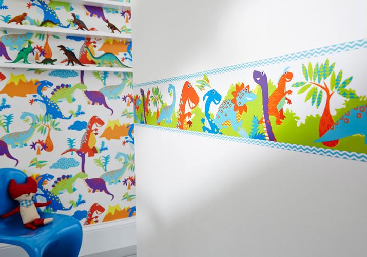Brico+   Papel Pintado Dinosaurios