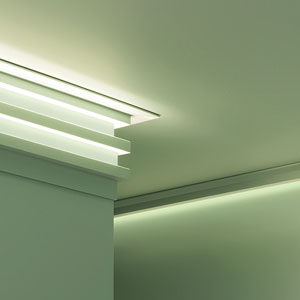Brico+   Molduras de iluminación indirecta