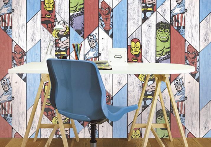 Brico+   Papel Pintado Vengadores